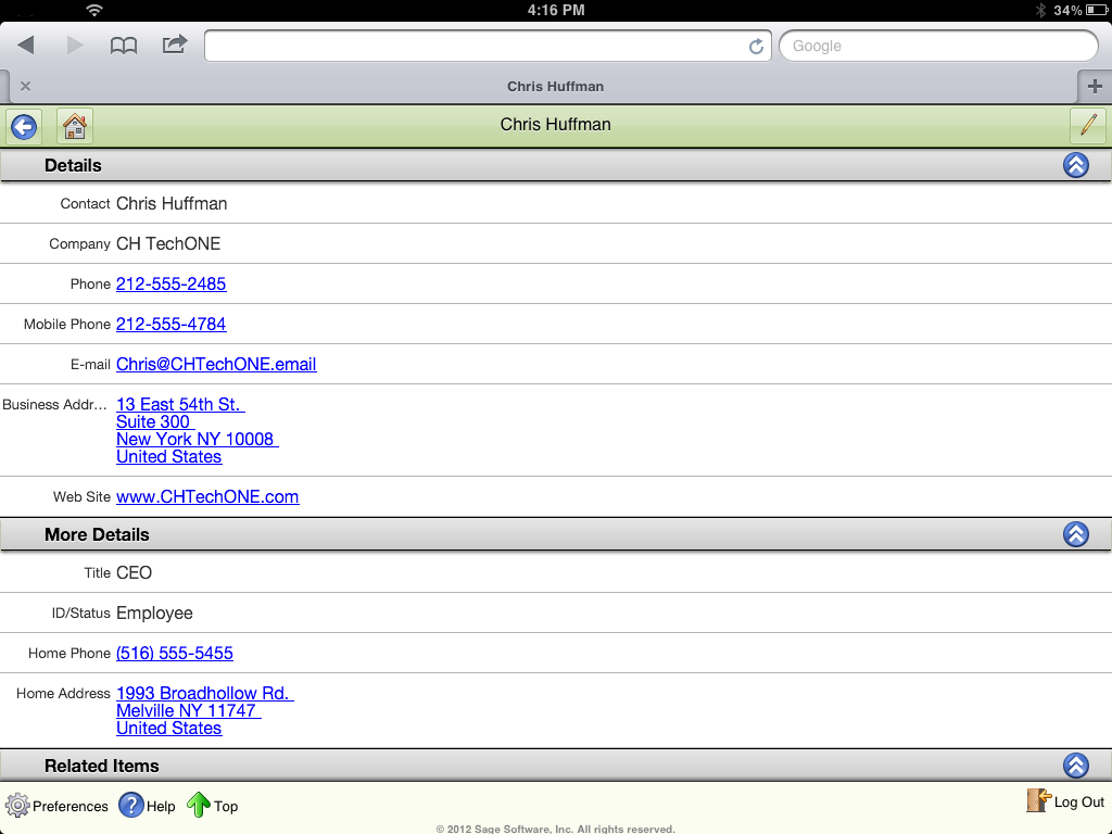 Sage ACT! Premium Mobile Contact Detail View (2)