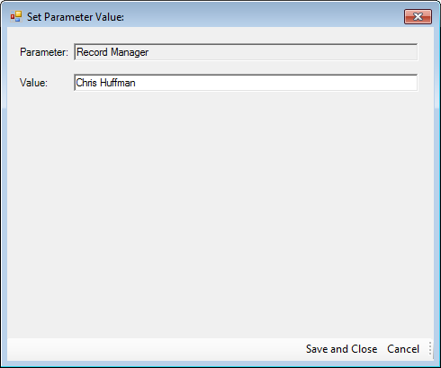 Smart Dash: Set Parameter Values